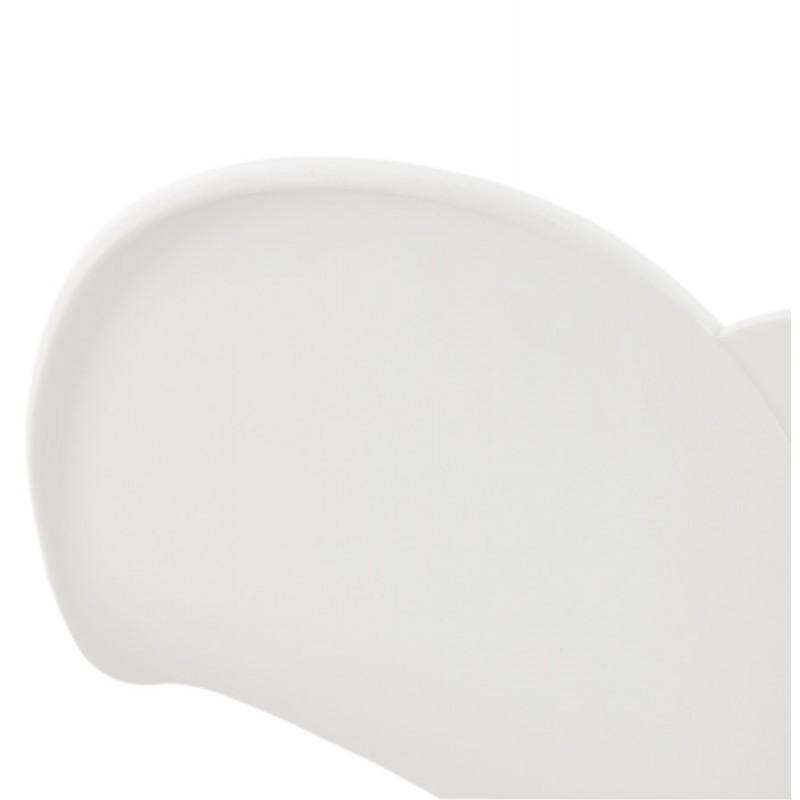 Chaise design pied effilé ADELE en polypropylène (blanc) - image 29269