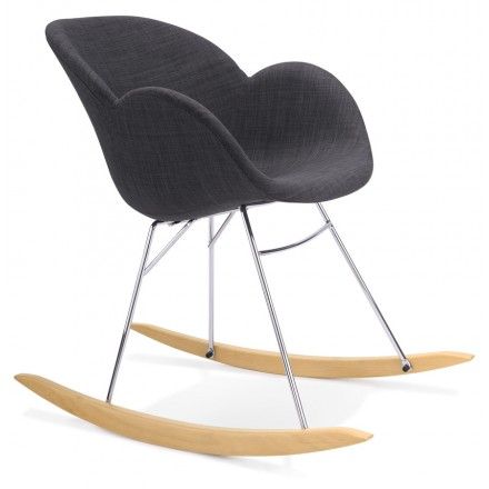 EDEN design rocker in fabric (dark gray)