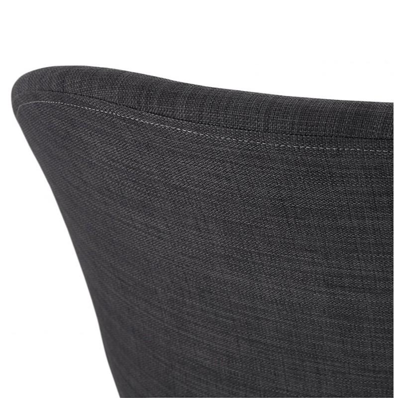 Fauteuil à bascule design EDEN en tissu (gris foncé) - image 29282