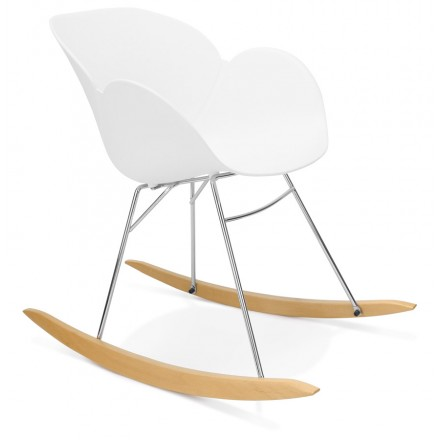 Rocking design EDEN (white) polypropylene Chair