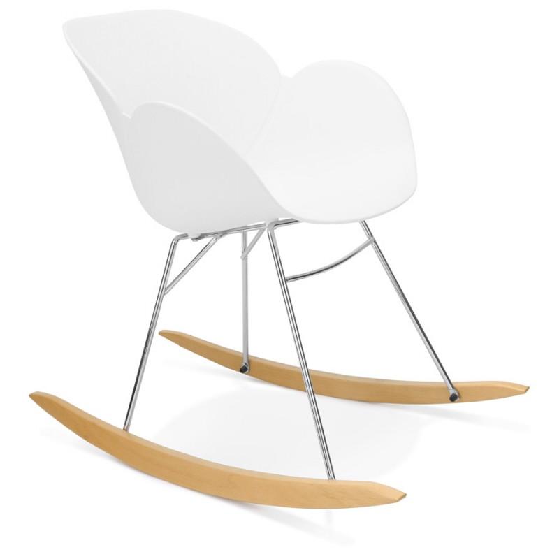 Rocking design EDEN (white) polypropylene Chair - image 29303