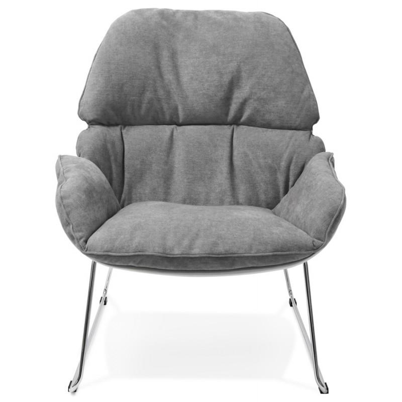 Fauteuil lounge design LILOU en tissu (gris clair) - image 29319