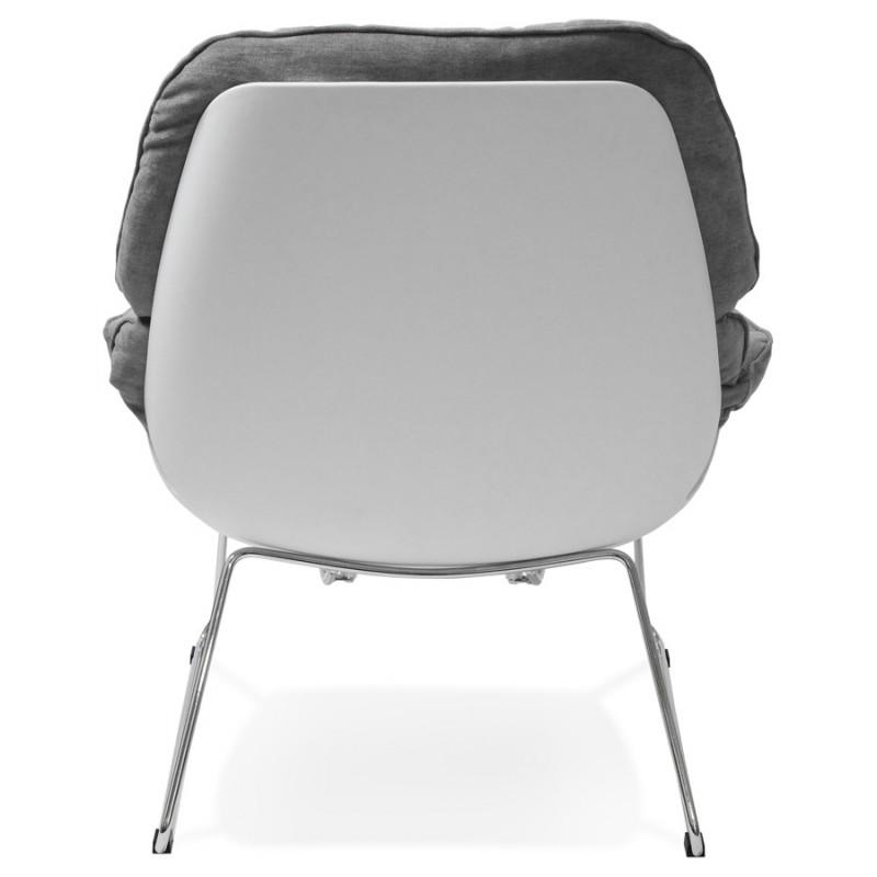 Fauteuil lounge design LILOU en tissu (gris clair) - image 29321