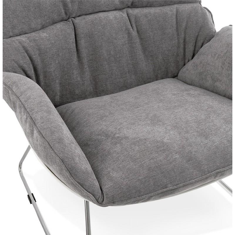 Fauteuil lounge design LILOU en tissu (gris clair) - image 29322