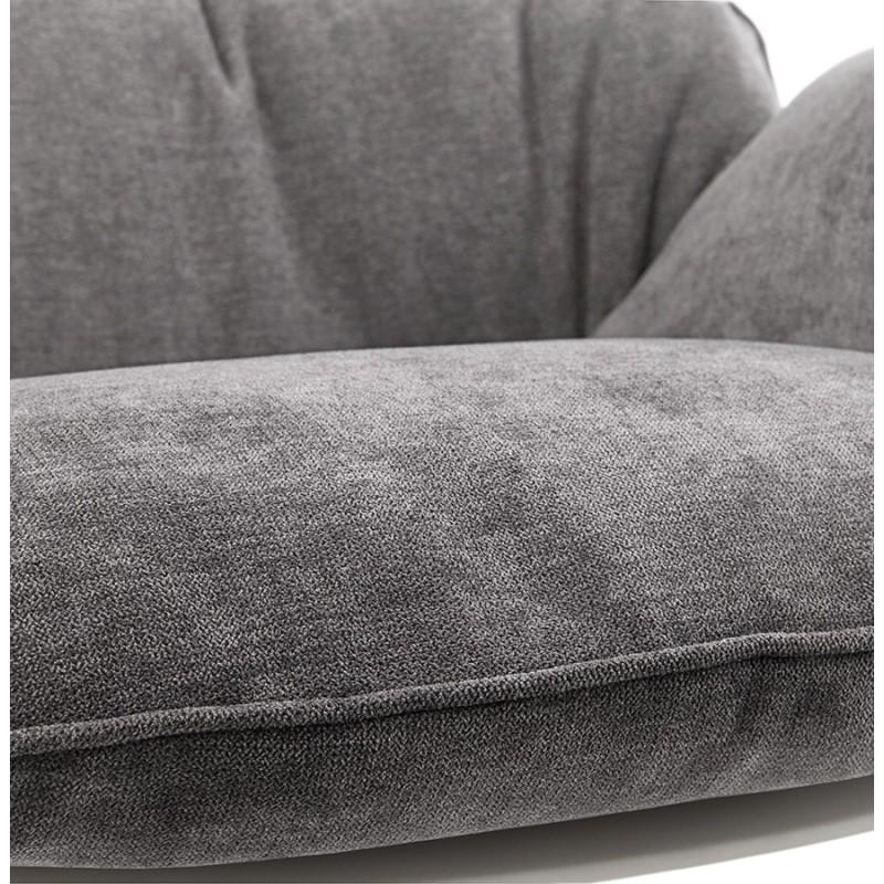 Fauteuil lounge design LILOU en tissu (gris clair) - image 29323