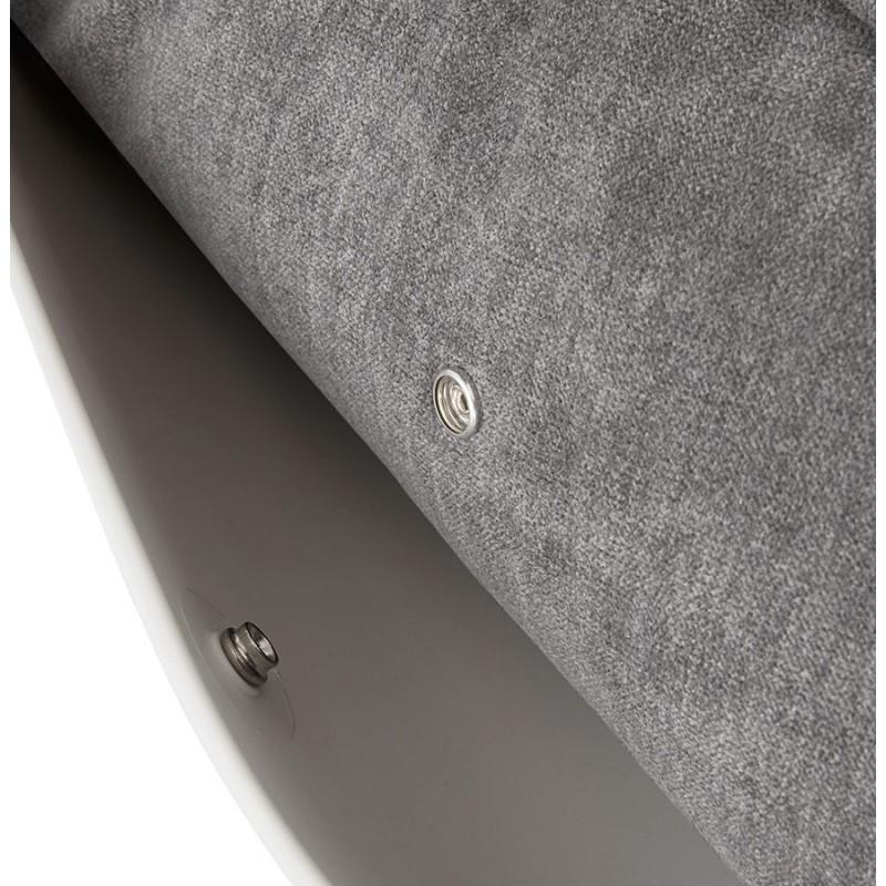 Fauteuil lounge design LILOU en tissu (gris clair) - image 29327