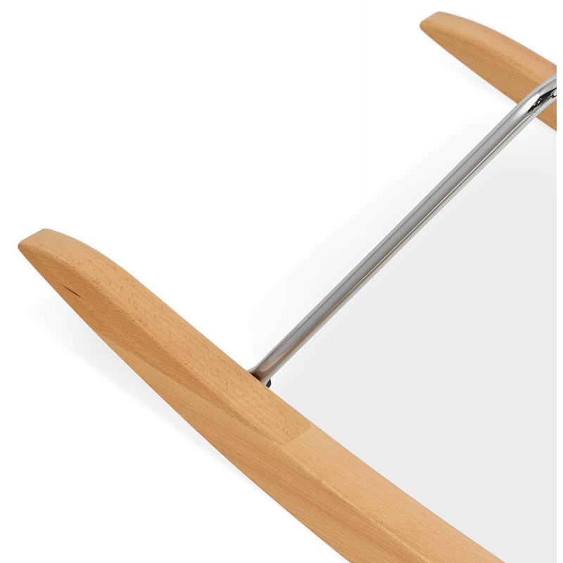 Fauteuil lounge à bascule JADE en tissu (gris clair) - image 29343