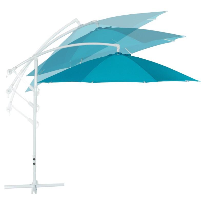 Parasol déporté octogonal ALICE en polyester et aluminium (bleu) - image 29349