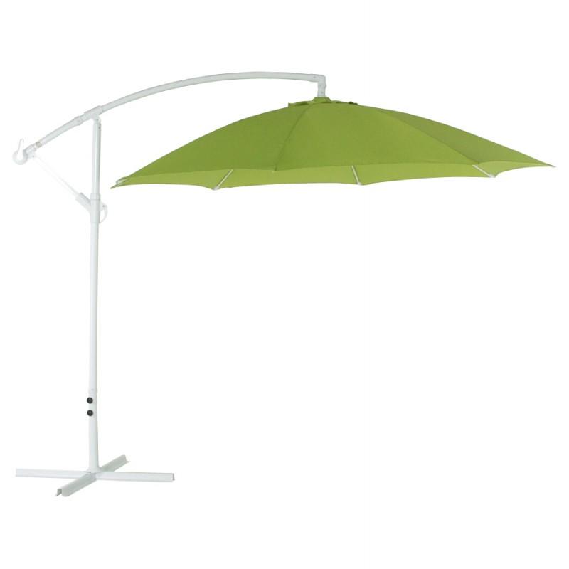 Parasol déporté octogonal ALICE en polyester et aluminium (vert)