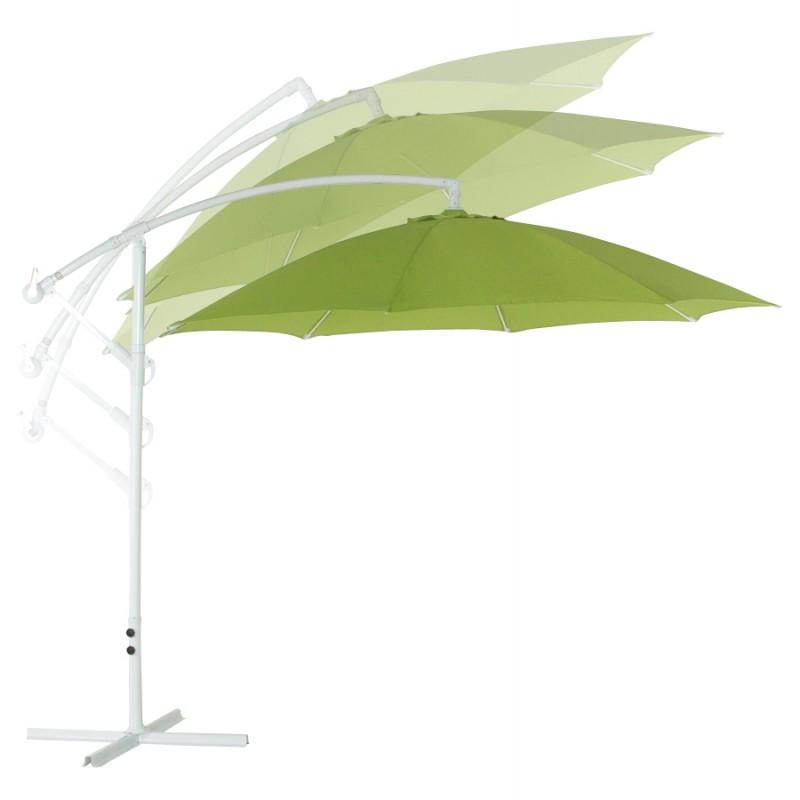 Parasol déporté octogonal ALICE en polyester et aluminium (vert) - image 29362