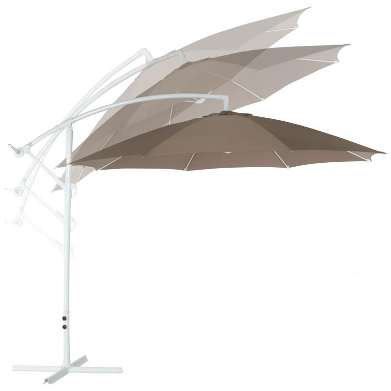 Parasol déporté octogonal ALICE en polyester et aluminium (taupe) - image 29373
