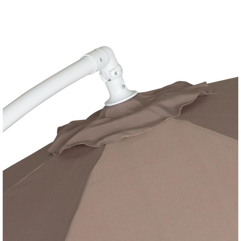 Parasol déporté octogonal ALICE en polyester et aluminium (taupe) - image 29377