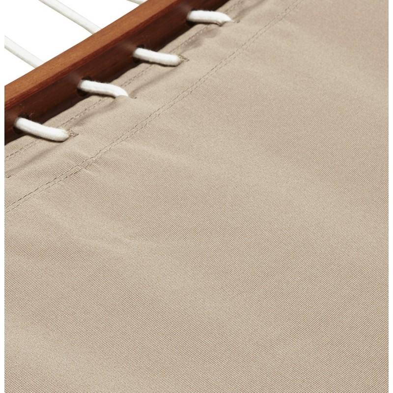 Hamac pied arqué JULES en bois et toile démontable (taupe) - image 29410