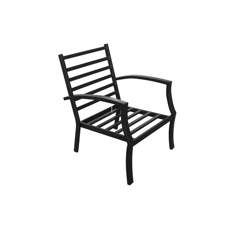Lot de 4 chaises de jardin crozet aspect fer forg noir - Lot chaise de jardin ...