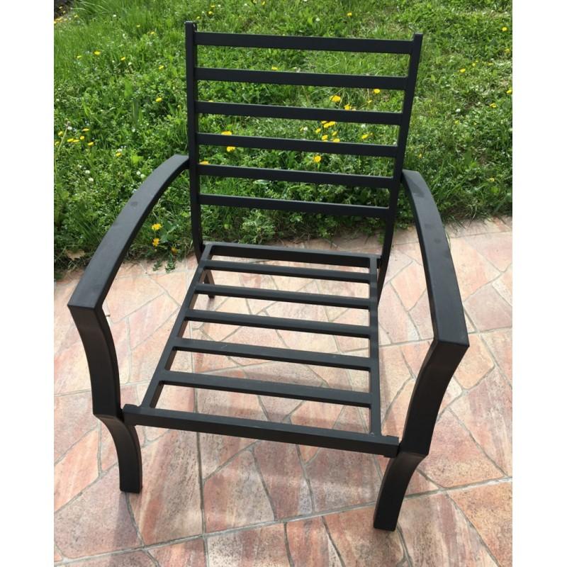 Lot de 4 chaises de jardin CROZET aspect fer forgé (noir) - image 29418