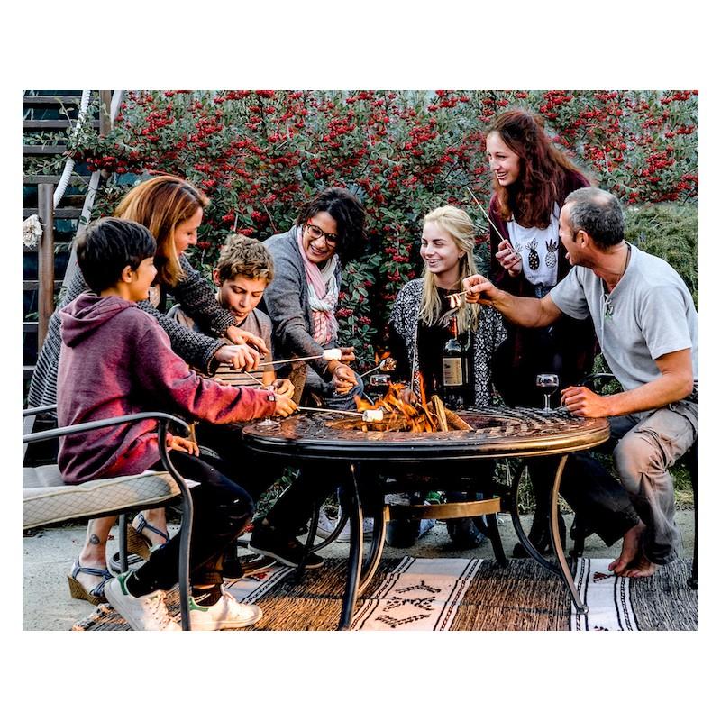 Table de jardin basse ronde MOOREA aspect fer forgé (noir) - image 29434
