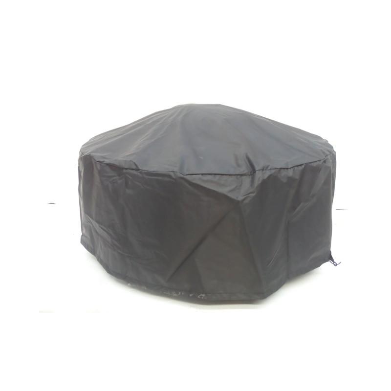 Table de jardin basse ronde MOOREA aspect fer forgé (noir) - image 29472