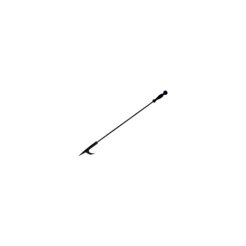 Table de jardin basse ronde MOOREA aspect fer forgé (noir) - image 29473