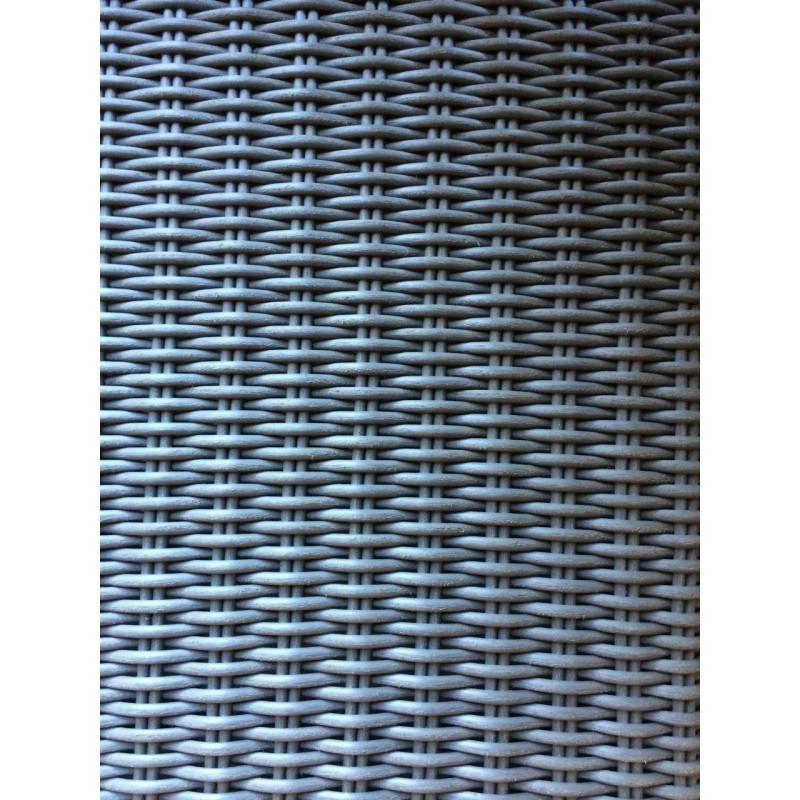 Salon de jardin 5 places TOLEDE en résine tressée ronde (gris) - image 29819