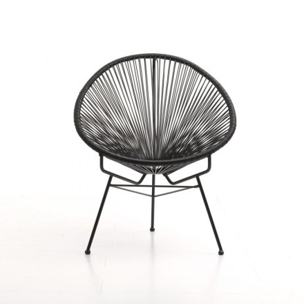 Garden Mallorca round braided resin (black) Chair