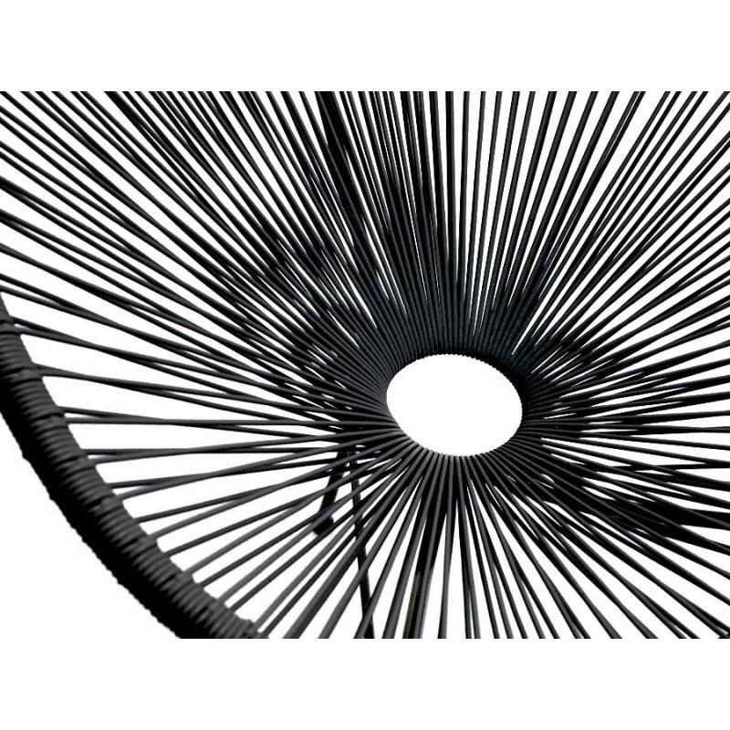 Fauteuil de jardin MAJORQUE en résine tressée ronde (noir) - image 29827