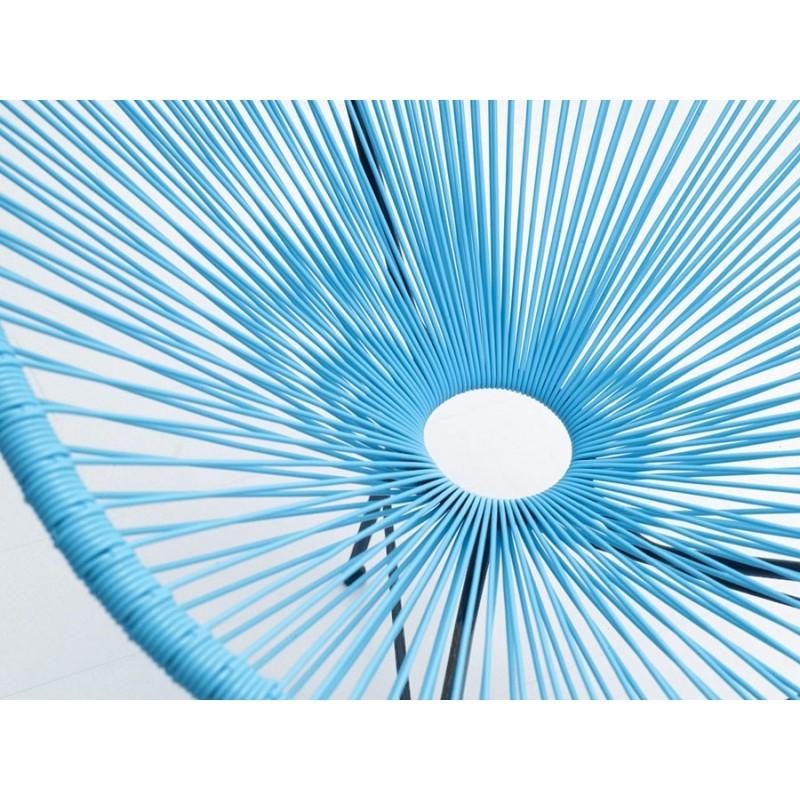 Fauteuil de jardin MAJORQUE en résine tressée ronde (bleu) - image 29831