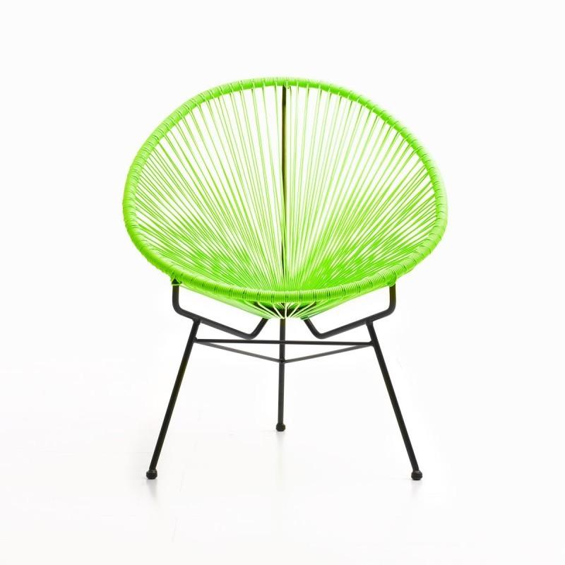 Fauteuil de jardin MAJORQUE en résine tressée ronde (vert) - image 29832