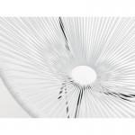 Fauteuil de jardin MAJORQUE en résine tressée ronde (blanc)