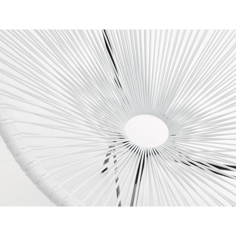 Fauteuil de jardin MAJORQUE en résine tressée ronde (blanc) - image 29843