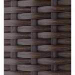 Fauteuil de jardin SALOU en résine tressée (marron, coussins blanc/écru)