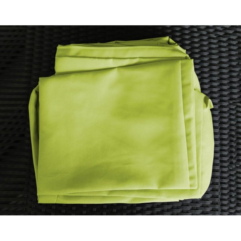 Salon de jardin 6 places KUMBA en résine tressée (noir, coussins vert) - image 29919