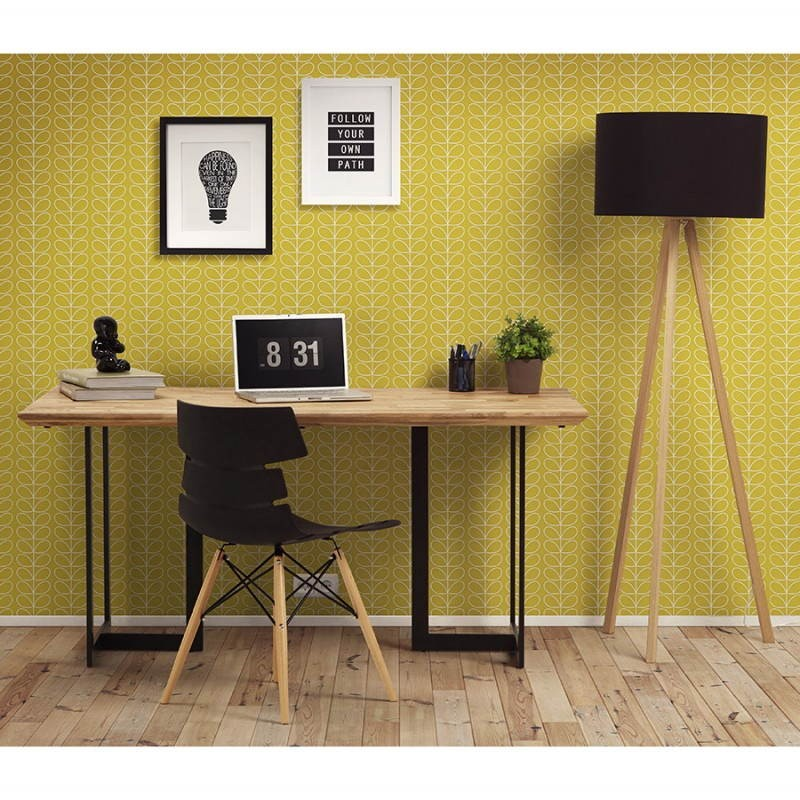 Table moderne rectangulaire NANOU en chêne (bois naturel) - image 30019