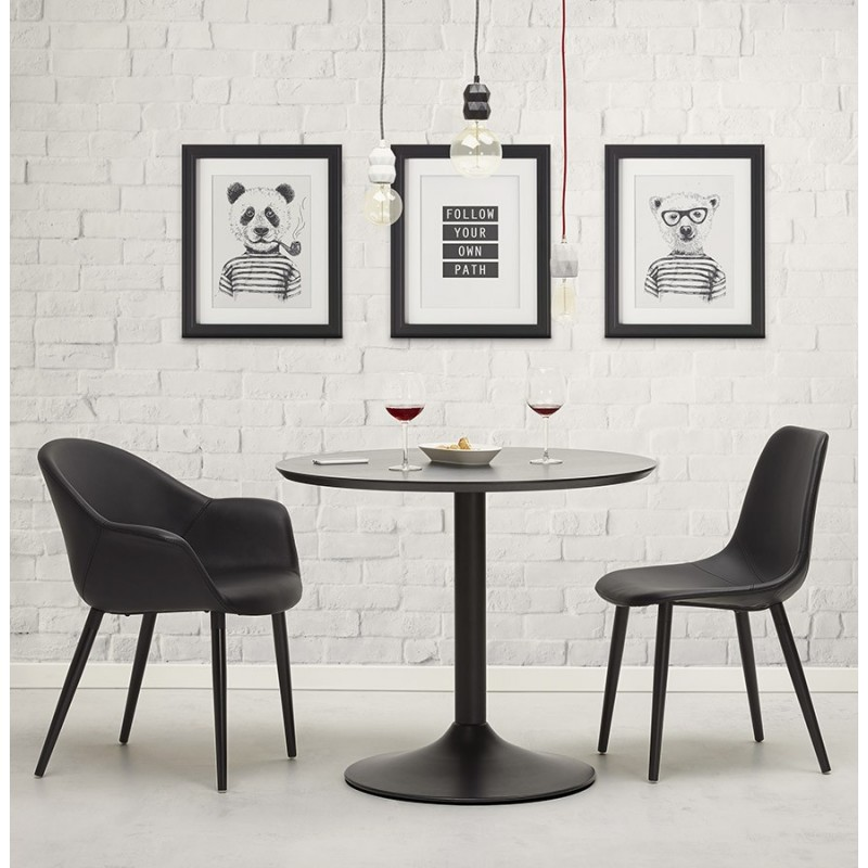 Contemporary design chair LOLA (black) - image 30020