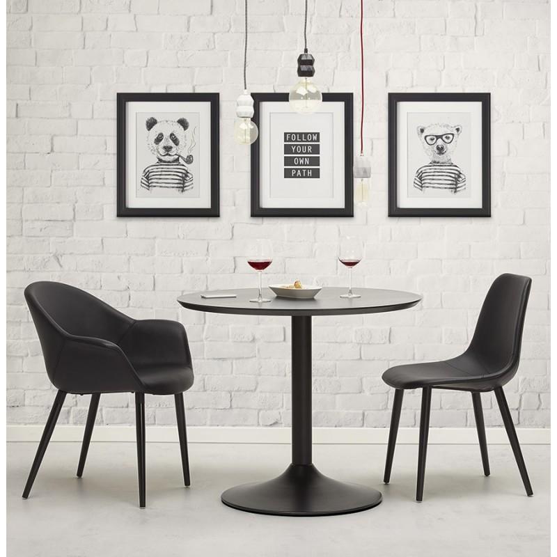Chaise design contemporaine LOLA (noir) - image 30020