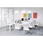 Bürostuhl polyurethan Dreh AMEN (weiß)