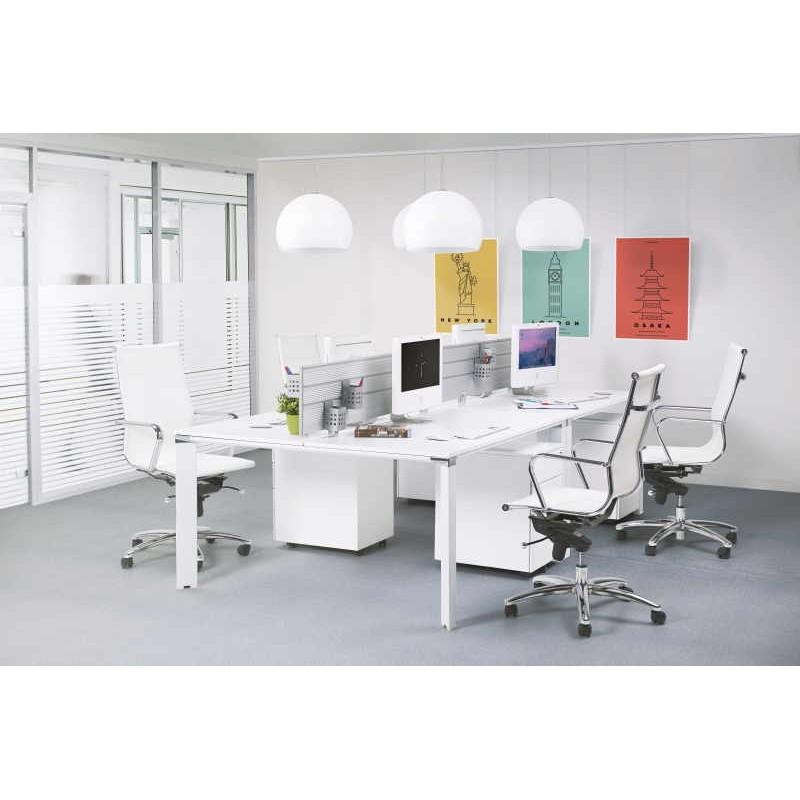 Fauteuil de bureau rotatif AMEN en polyuréthane (blanc) - image 30038