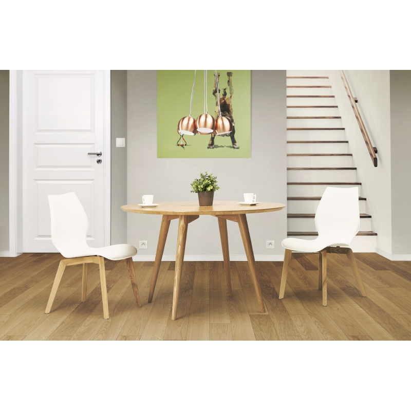 Table à manger style scandinave ronde PONY en bois (Ø 120 cm) (naturel) - image 30040