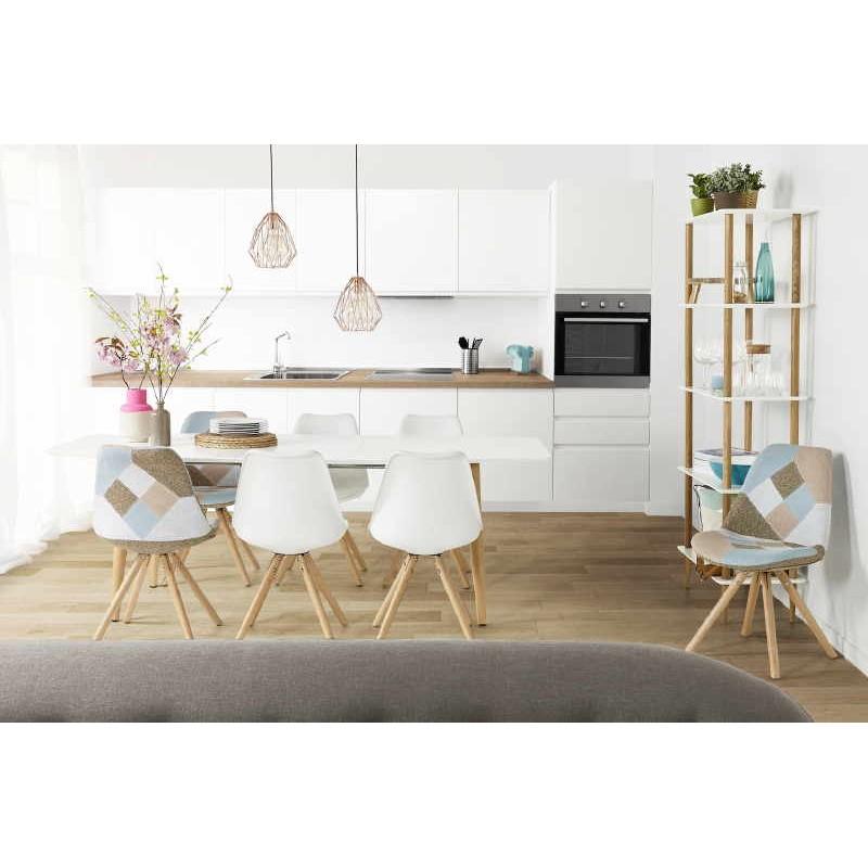 etag re biblioth que design style scandinave erika en bois blanc. Black Bedroom Furniture Sets. Home Design Ideas