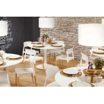 Chaise design style scandinave ASTI (blanc)