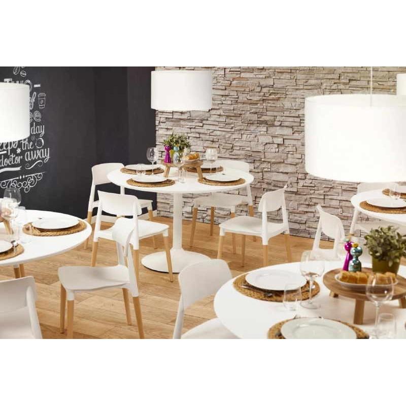 Chaise design style scandinave ASTI (blanc) - image 30050