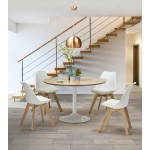 Contemporary Chair style Scandinavian FJORD (white)