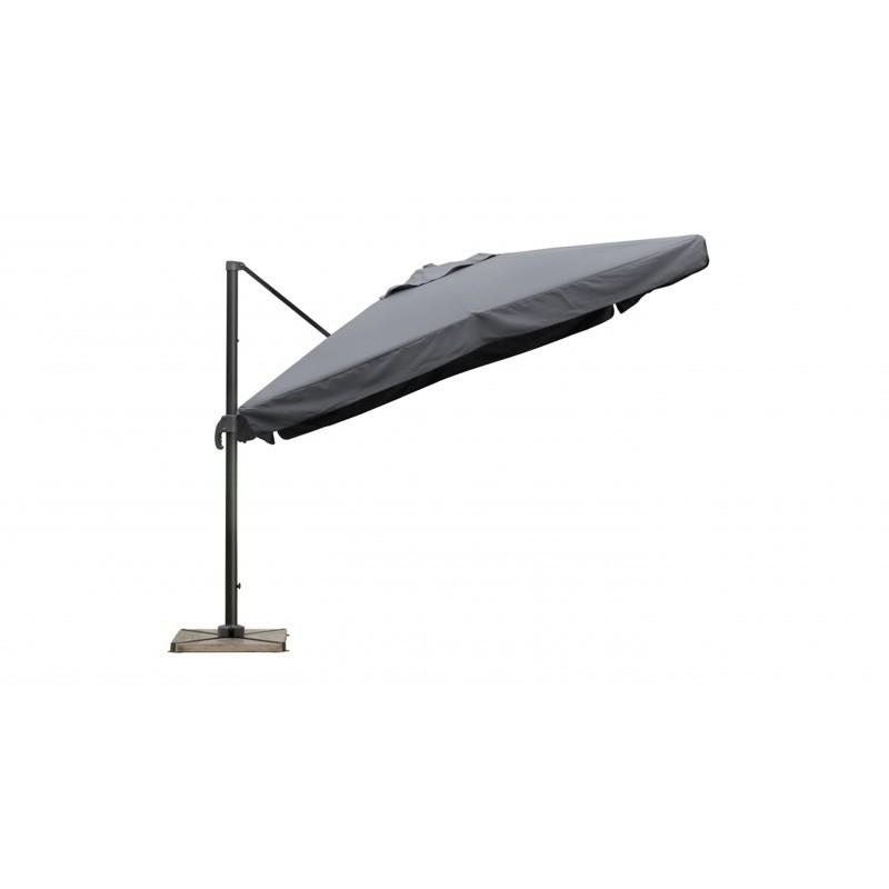 parasol d port carr avec ventilation 3m x 3m cesar gris. Black Bedroom Furniture Sets. Home Design Ideas