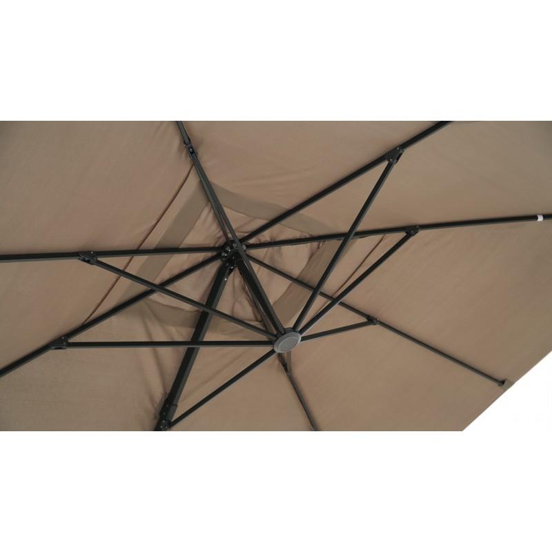 Parasol déporté avec ventilation 3m x 4m LEONIE (taupe) - image 30103