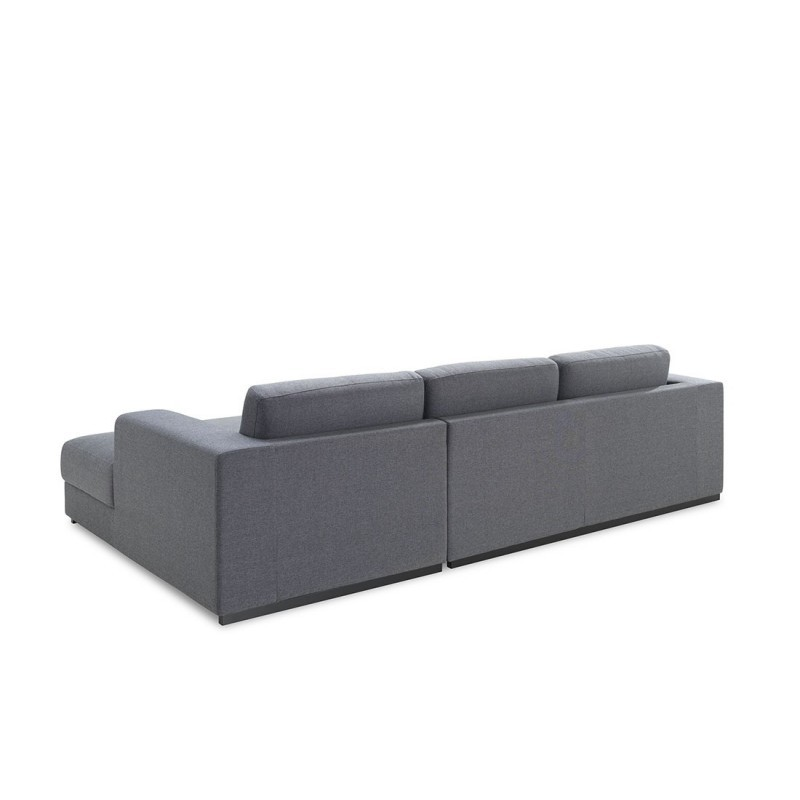 ecke sofa design rechts 4 pl tze mit ma chaise in stoff grau. Black Bedroom Furniture Sets. Home Design Ideas