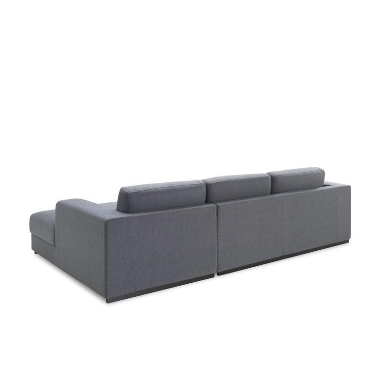 ecke sofa design rechts 4 pl tze mit ma chaise in stoff grau. Black Bedroom Furniture Sets. Home Design Ideas