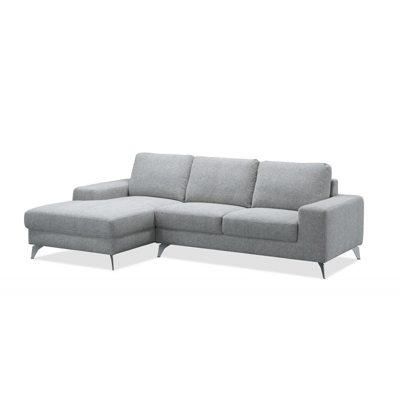 Corner Sofa Design Left 3 Places With Theo Chaise In Fabric Light Gray