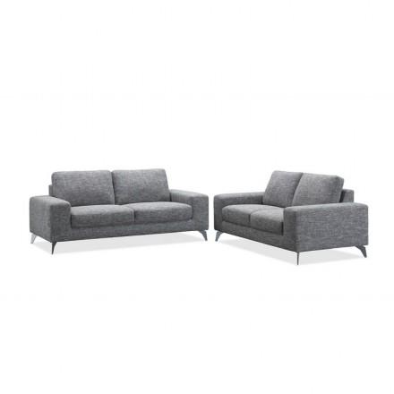 Richtige Design Sofa 3 Plätze ALBERT Stoff (hellgrau)