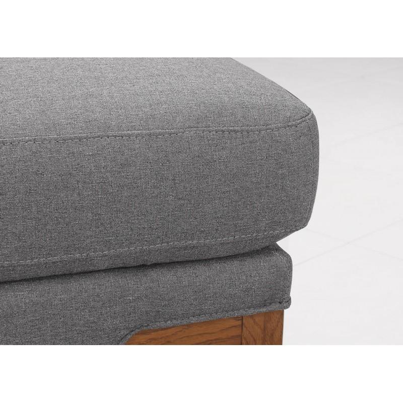 Canapé d'angle côté Droit design 3 places avec méridienne SERGIO en tissu (gris) - image 30248