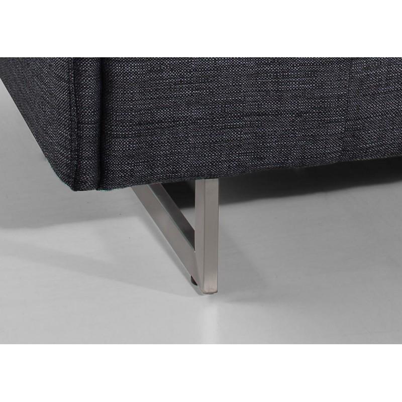Canapé droit design 3 places MARIO en tissu (gris foncé) - image 30263