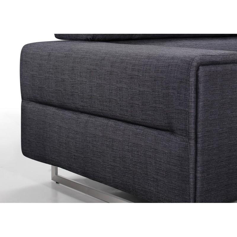 Canapé droit design 3 places MARIO en tissu (gris foncé) - image 30264